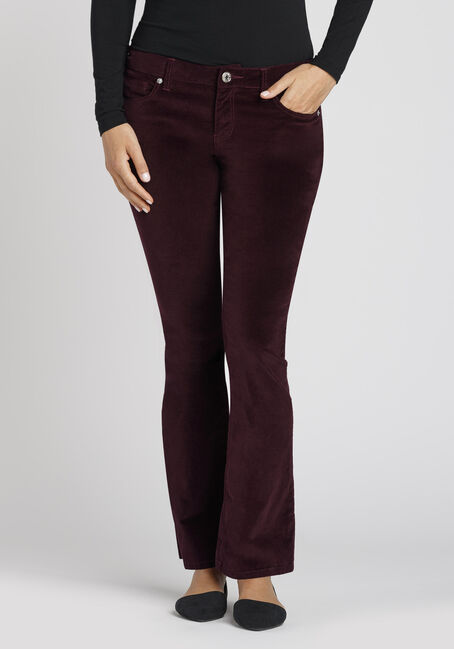 Ladies' Uncut Corduroy Baby Boot Pant