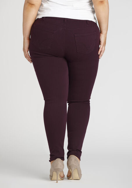 Ladies' Plus Colour Last Skinny Jeans, DARK PURPLE, hi-res
