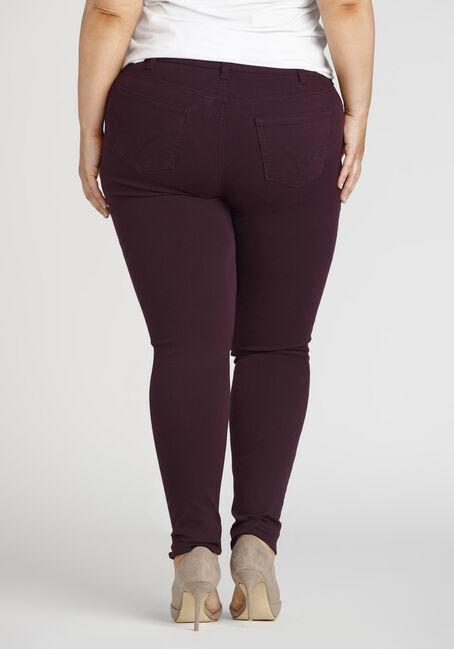 Ladies' Plus Colour Last Skinny Jeans, DARK PURPLE, hi-res