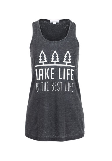 Womens' Lake Life Tank, BLACK, hi-res