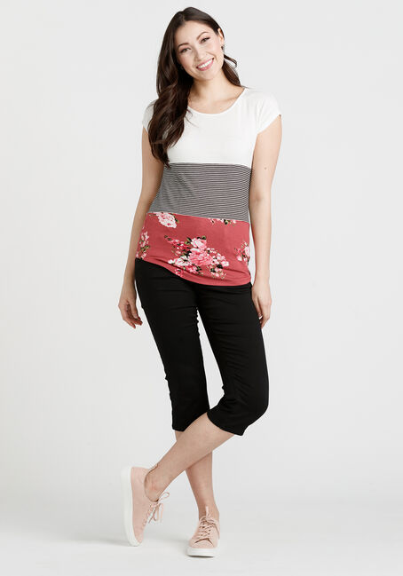 Women's Colour Block Top, SIENNA, hi-res