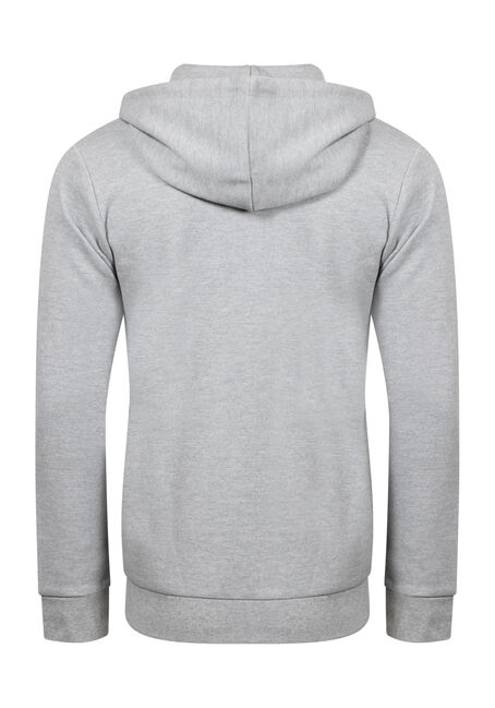 Men's Zip Up Hoodie, HEATHER GREY, hi-res