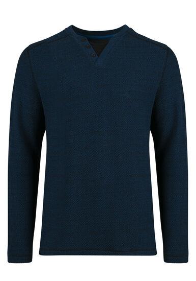 Men's Fooler Henley Sweater, ROYAL BLUE, hi-res