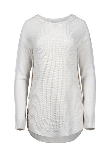 Women's Side Button Sweater