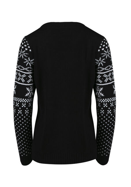 Ladies' Ginger Snap Sweater, BLACK, hi-res