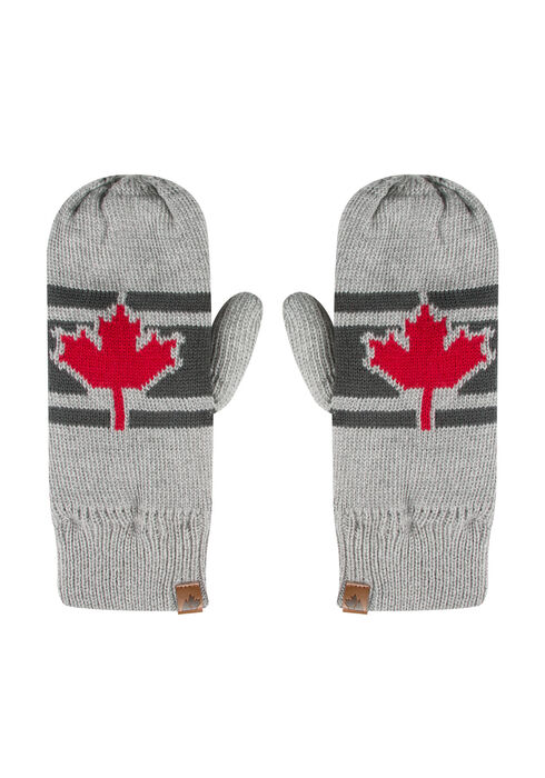 Ladies' Canada Mittens, GREY, hi-res