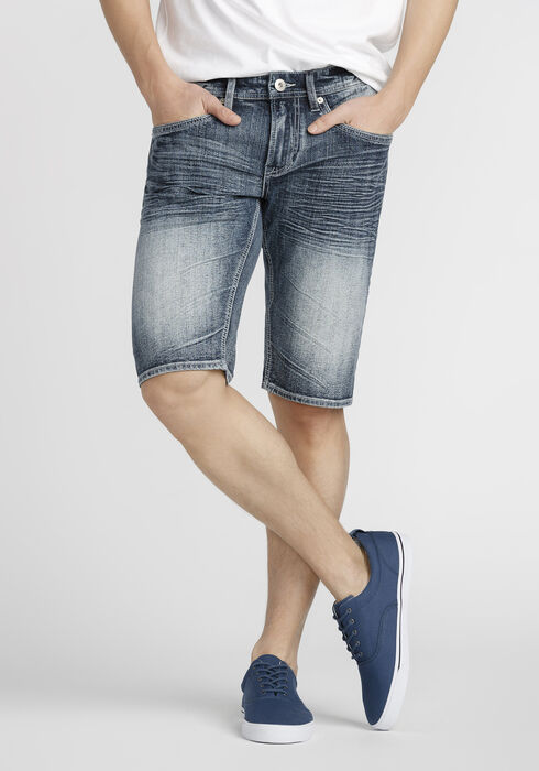 Men's Light Wash Jean Short, LIGHT WASH, hi-res