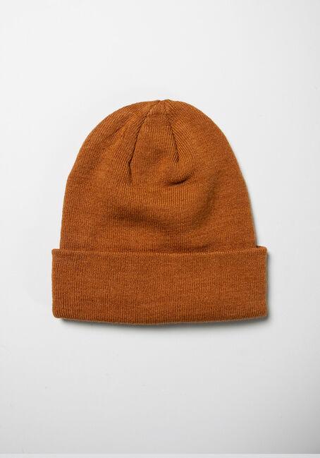Men's Ribbed Hat, MUSTARD, hi-res