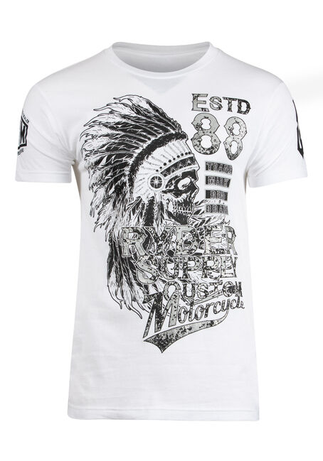 Men's Ryder Skull And Motorcycle Tee