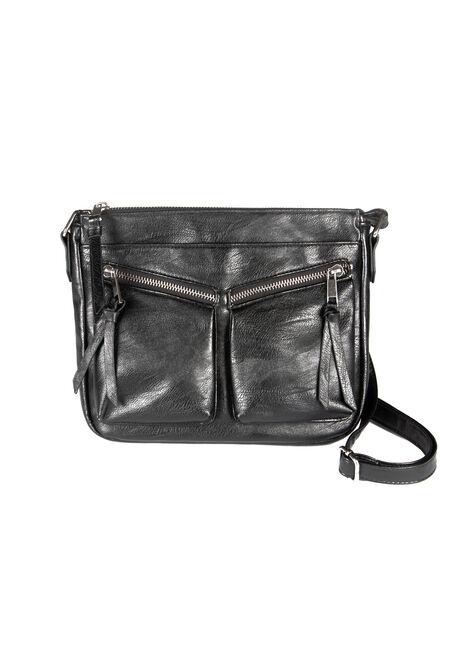 Women's Double Zipper Cross Body Bag