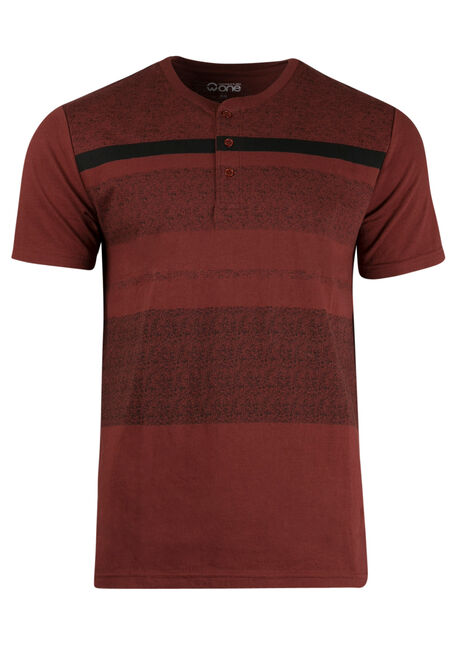 Men's Stripe Henley Tee