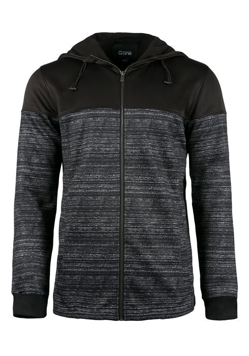 Men's Colour Block Jacket, BLACK, hi-res