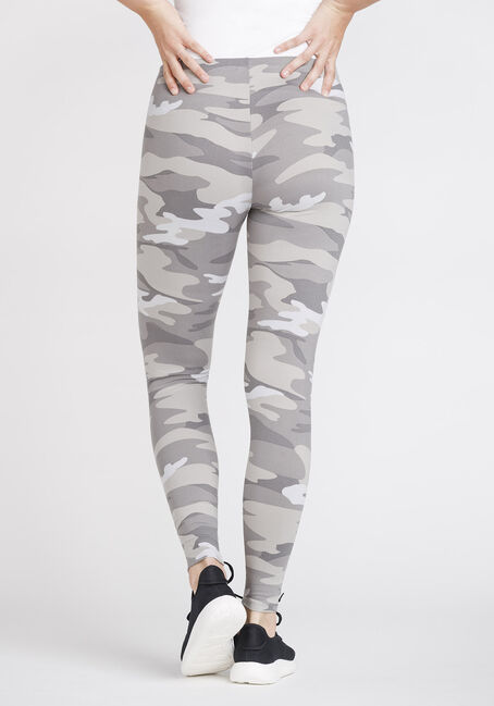 Women's Camo Legging, GREY, hi-res