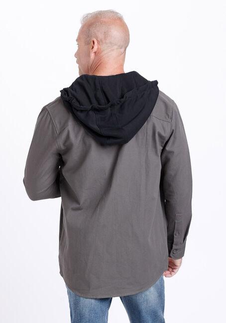 Men's Canvas Work Jacket, GREY, hi-res