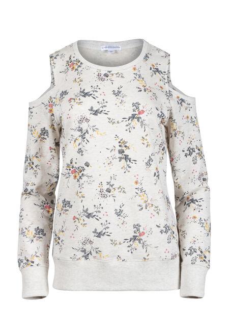 Women's Floral Blossom Cold Shoulder Fleece