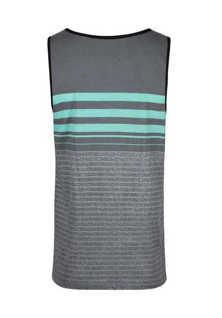 Men's Everyday Stripe Tank, AQUA GREEN, hi-res