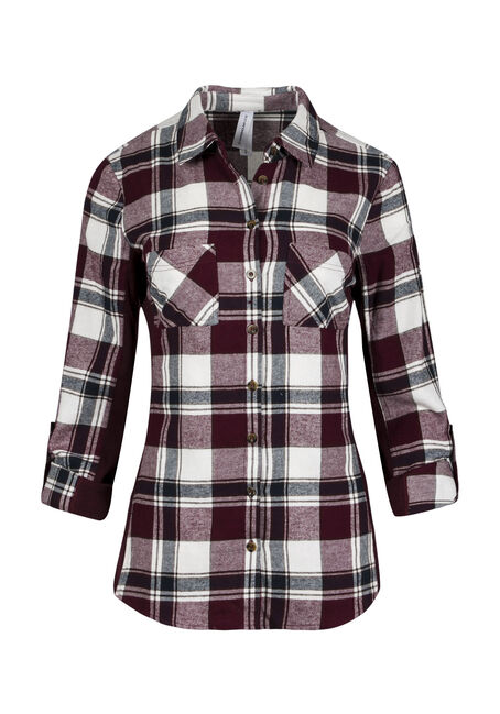 Ladies' Rib Insert Flannel Shirt