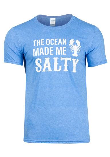 Men's Ocean Made Me Salty Lobster Tee, HEATHER ROYAL, hi-res