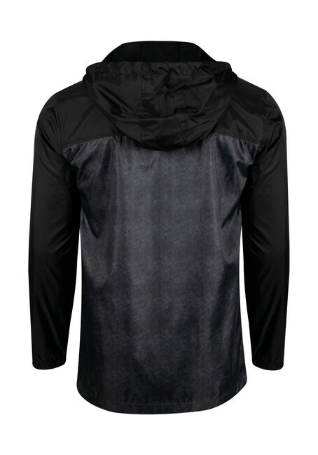 Men's Windbreaker, BLACK, hi-res