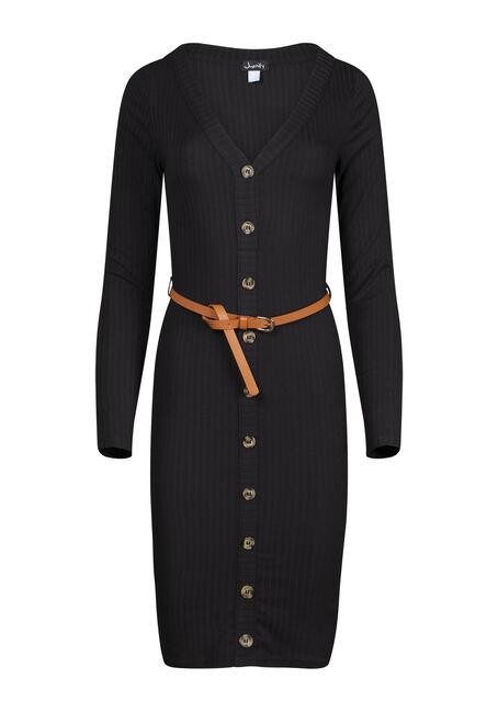 Women's Ribbed Midi Bodycon Dress