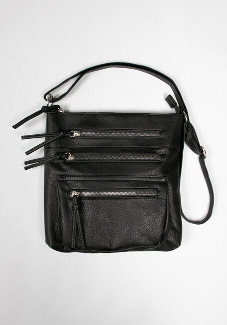 Women's Triple Zipper Cross Body Bag