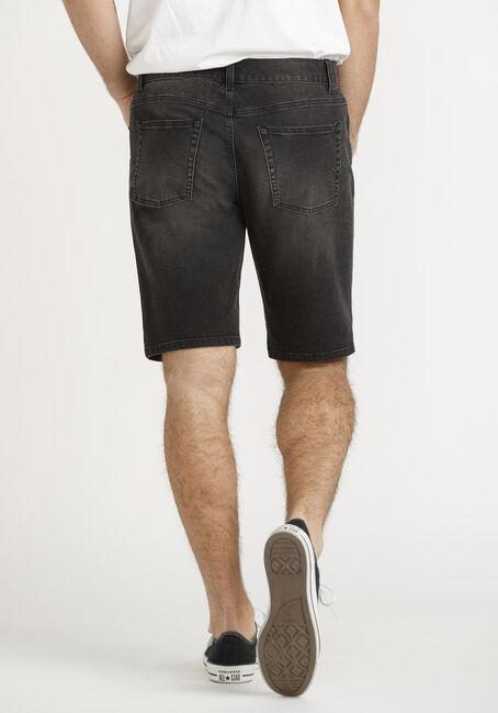 Men's Black Denim Short, BLACK, hi-res