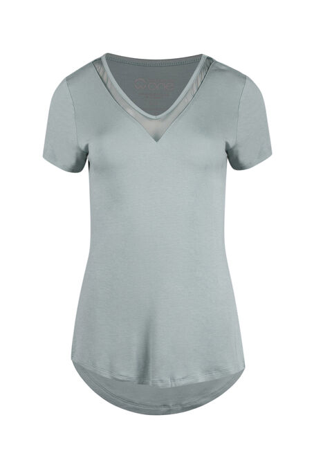 Ladies' Mesh Insert Tee