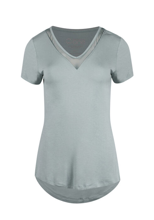 Ladies' Mesh Insert Tee, MINT, hi-res