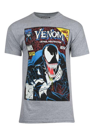Men's Venom Tee, HEATHER GREY, hi-res