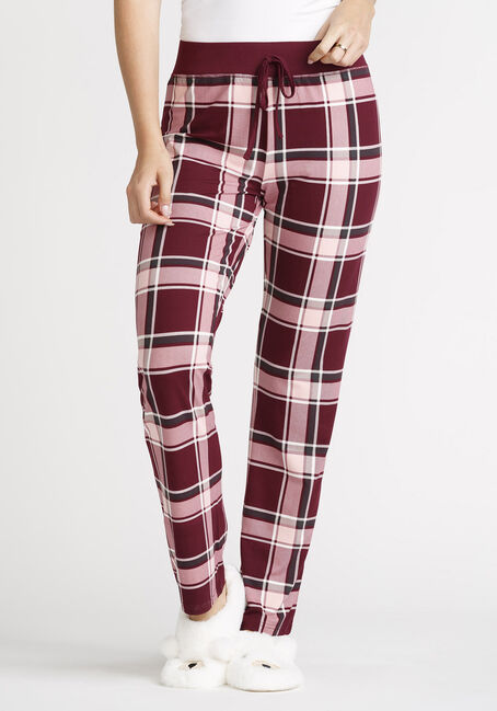 Women's Plaid Open Leg Pant