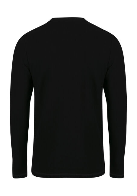 Men's Crew Neck Sweater, BLACK, hi-res