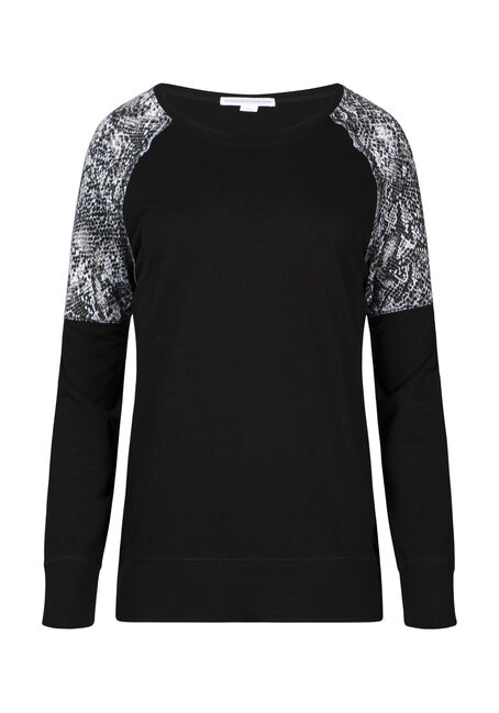 Women's Snake Print Insert Fleece