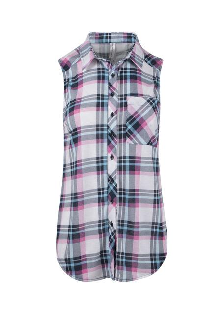 Ladies' Knit Plaid Shirt