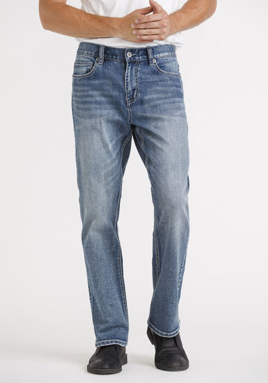 Men's Classic Bootcut Jeans, MEDIUM WASH, hi-res
