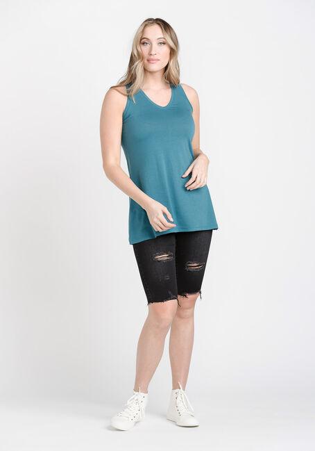 Women's Legging Tank, BERMUDA BLUE, hi-res