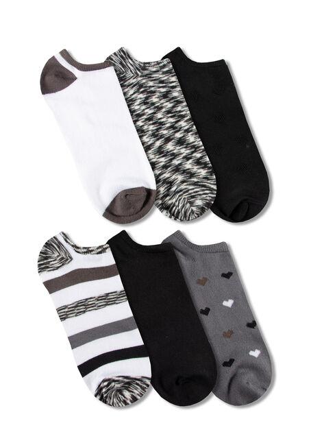 Women's 6 Pair Hearts Socks