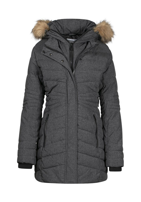 Women's Quilted Parka with Fooler