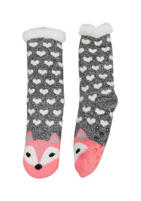 Ladies' Fox Slipper Socks