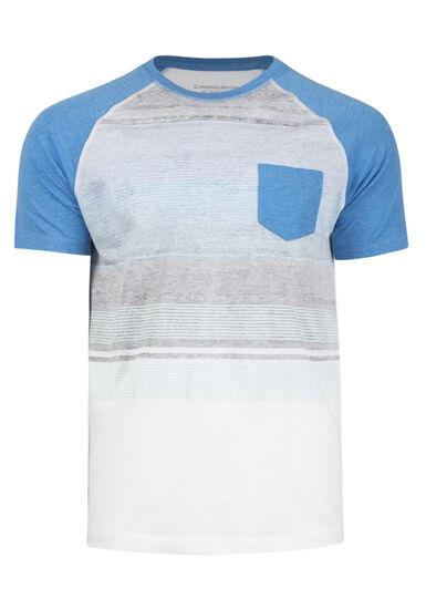 Men's Everyday Striped Pocket Tee, ROYAL BLUE, hi-res