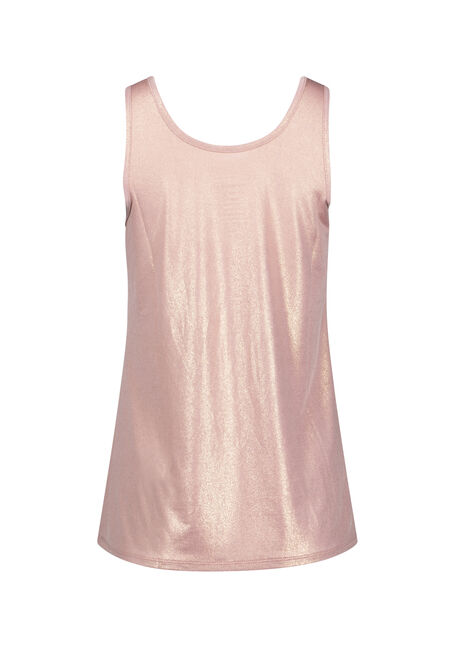 Women's Shimmer Tank, DUSTY PINK, hi-res
