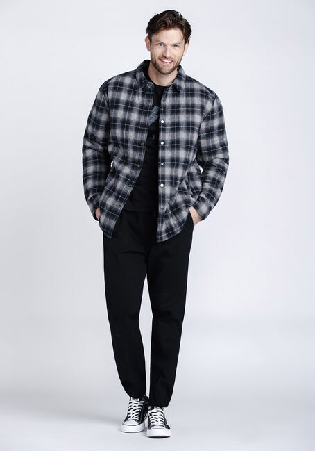 Men's Flannel Work Jacket, ASH, hi-res