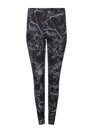 Women's Marble Print Legging, BLACK, hi-res