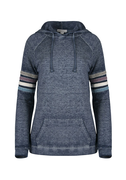 Ladies' Burnout Football Hoodie, NAVY, hi-res
