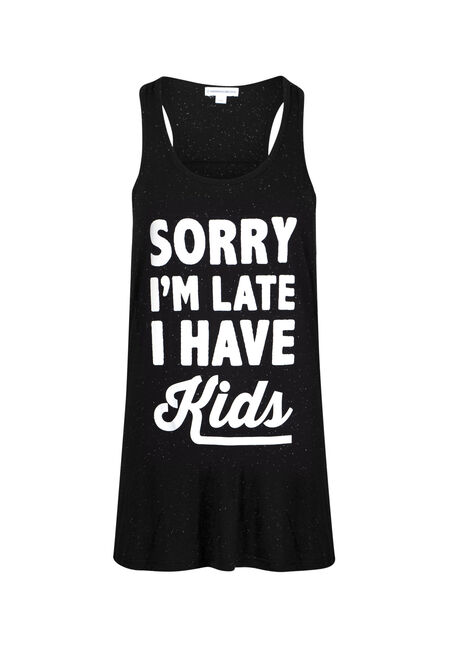 Womens' Sorry I'm Late Ruched Tank