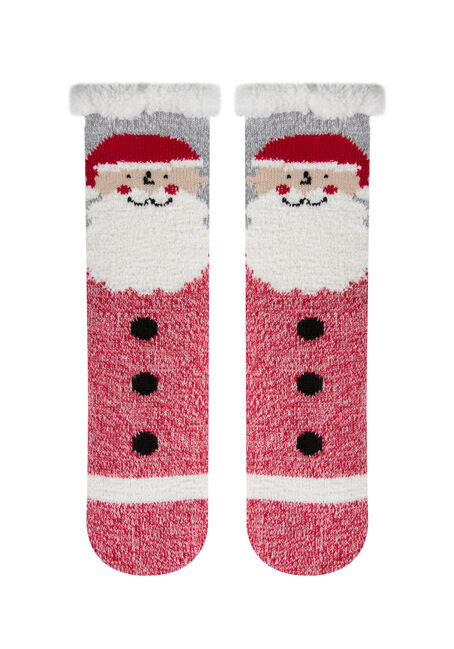 Ladies' Santa Slipper Socks
