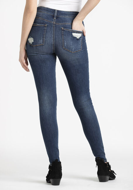 Women's  Rip & Repair High Rise Skinny Jeans, DARK WASH, hi-res
