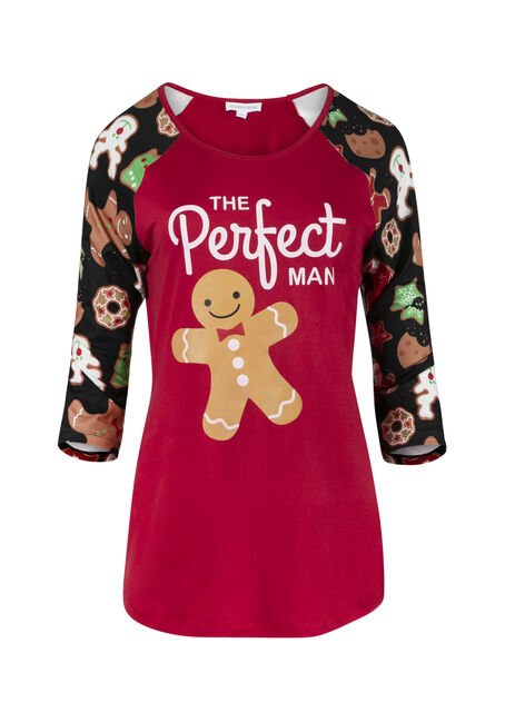 Ladies' Gingerbread Baseball Tee