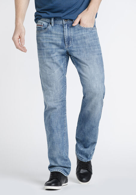 Men's Marble Wash Relaxed Straight Jeans