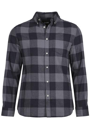 Men's Buffalo Plaid Flannel Shirt, BLUE, hi-res