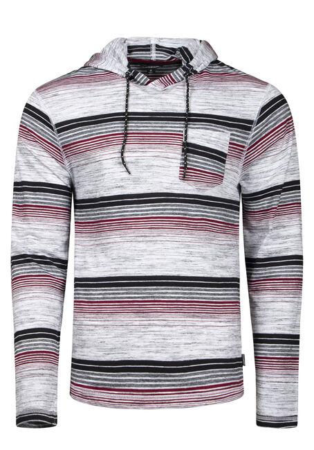 Men's Striped Hooded Tee